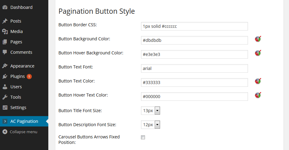 Advanced Content Pagination Settings