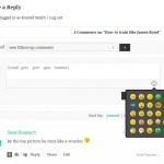 wpDiscuz Emoticons on user comment form