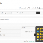 wpDiscuz Emoticons on guest comment form