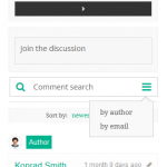 wpDiscuz Comment Search on Mobile