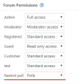 forum permition