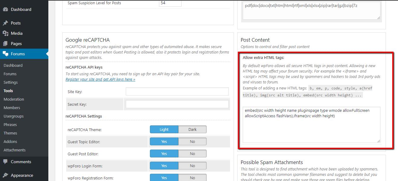 My code is not getting embeded – wpForo Integration – wpForo